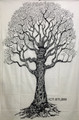 Tapestry Tree of Life Black & White (135 x 220 cm)