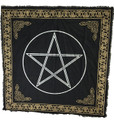 "Indian Cotton Tapestry Altar Cloth Pentacle 36"" x 36"""