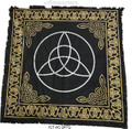 "Indian Cotton Tapestry Altar Cloth Triquetra 24"" x 24"""