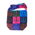 Cotton Hand Bag / Shopping Bag Printed Patchwork Peace / Unity