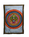 Indian Cotton Tapestry Hand Painted Hamsa (135 x 220 cm)