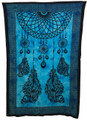 Indian Cotton Tapestry Dream Catcher Blue (135 x 220 cm)