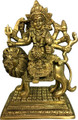 Brass Durga Antique 7""