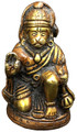 Brass Hanuman Cherry Colored 2.5""