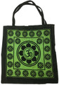 "Cotton Hand Bag / Shopping Bag Tie & Dye 18"" Om"