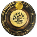 Wooden Round Incense / Cone Burner (Pack of 12) Painted Tree of Life
