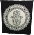 Indian Cotton Tapestry Hamsa Black & White (210 x 240 cm)