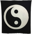 Indian Cotton Tapestry Yin Yang Black & White (210 x 240 cm)