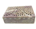 "Stone Storage Box Net Carving 6""x4"""