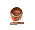 Tibetan Singing Bowl OM (Orange)