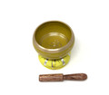 Tibetan Singing Bowl OM (Yellow)