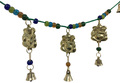 Brass Wind Chime Bandanvar with bells, 3 Ganesha