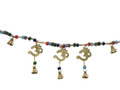 Brass Wind Chime Bandanvar with bells, 3 Om
