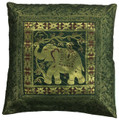 Indian Cushion Cover Embroidery, Elephant 16 x 16 inch