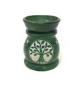 Stone Aroma Lamp Colored 3''H Tree of Life, Green
