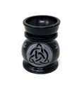 "Stone Aroma Lamp Colored 3""H, Triquetra, Black"