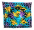 Indian Cotton Tapestry Sun Moon Star Celestial (210 x 240 cm)