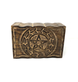 Wooden Handicraft Storage box 6 x 9 inch Pentacle