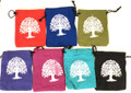 Cotton Pouch Tree of Life set of 7 (5''x4'')