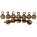"Brass Ghungroo Bells 2"" Om (set of 12)"