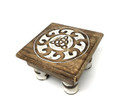 Wood Altar table Triquetra 6''x 4''