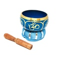 Tibetan Singing Bowl OM (Blue)