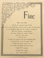 Prayer Poster Fire