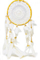 "Dream Catcher 8"" diameter rattan (white crochet)"