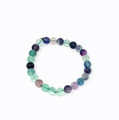 Multi Flourite 8mm bracelet #13