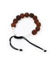 Rudraksha beads(12mm) with crystal beads #16