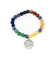 7 Chakra 8mm beads with Tree of life charm Bracelet #18