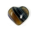 Fluorite hand carved heart 1 inch