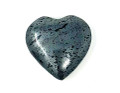 Hematite Hand carved Heart 1 inch