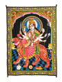 "Indian Cotton Tapestry Wall Hanging Maa Durga (30""x40"")"