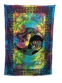 Indian Cotton Tapestry Tie & Dye, 2 Dragons (135 x 220 cm)