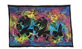 Indian Cotton Tapestry Tie & Dye, 2 Elephants