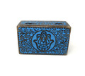 "Wooden Handicraft Storage Box 5"" x 8"" Hamsa Colored"