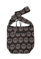 Cotton Hand Bag/ Shopping Bag Peace, Printed Brown