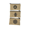 Cotton Jute Pouch set of 3 (7''x4'') Assorted design