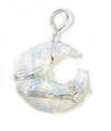 Opalite pendant Phases of Moon