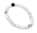 Black + Howlite Beads Bracelet 8mm #36
