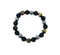 Tiger Eye, Hematite and Black Obsidian 10mm Bracelet #40