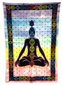Indian Cotton Tapestry & Chakra (135 x 220 cm)
