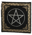 "Indian Cotton Tapestry Altar Cloth Pentacle 24"" x 24""(black)"