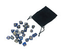 Lapic Lazuli Rune stone set in velvet pouch (25 stone set)