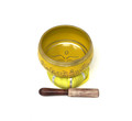 Tibetan Singing Bowl OM MANI (Yellow)