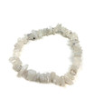 White Rainbow Moonstone chip bracelet #68