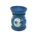 "Stone Aroma Lamp Colored 3""H, Moon Star, Blue"