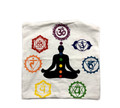 Indian Cushion Cover, 7 Chakra 16 x 16 inch