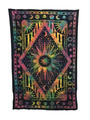 Indian Cotton Tapestry Tie & Dye, Sun (135 x 220 cm)